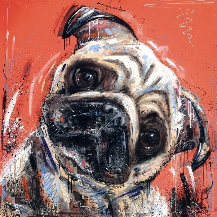 Here's Looking At You Kid by Samantha Ellis - Hand Finished Limited Edition on Canvas sized 20x20 inches. Available from Whitewall Galleries
